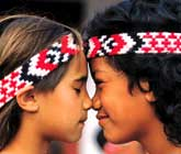 Traditional Maori hongi or greeting